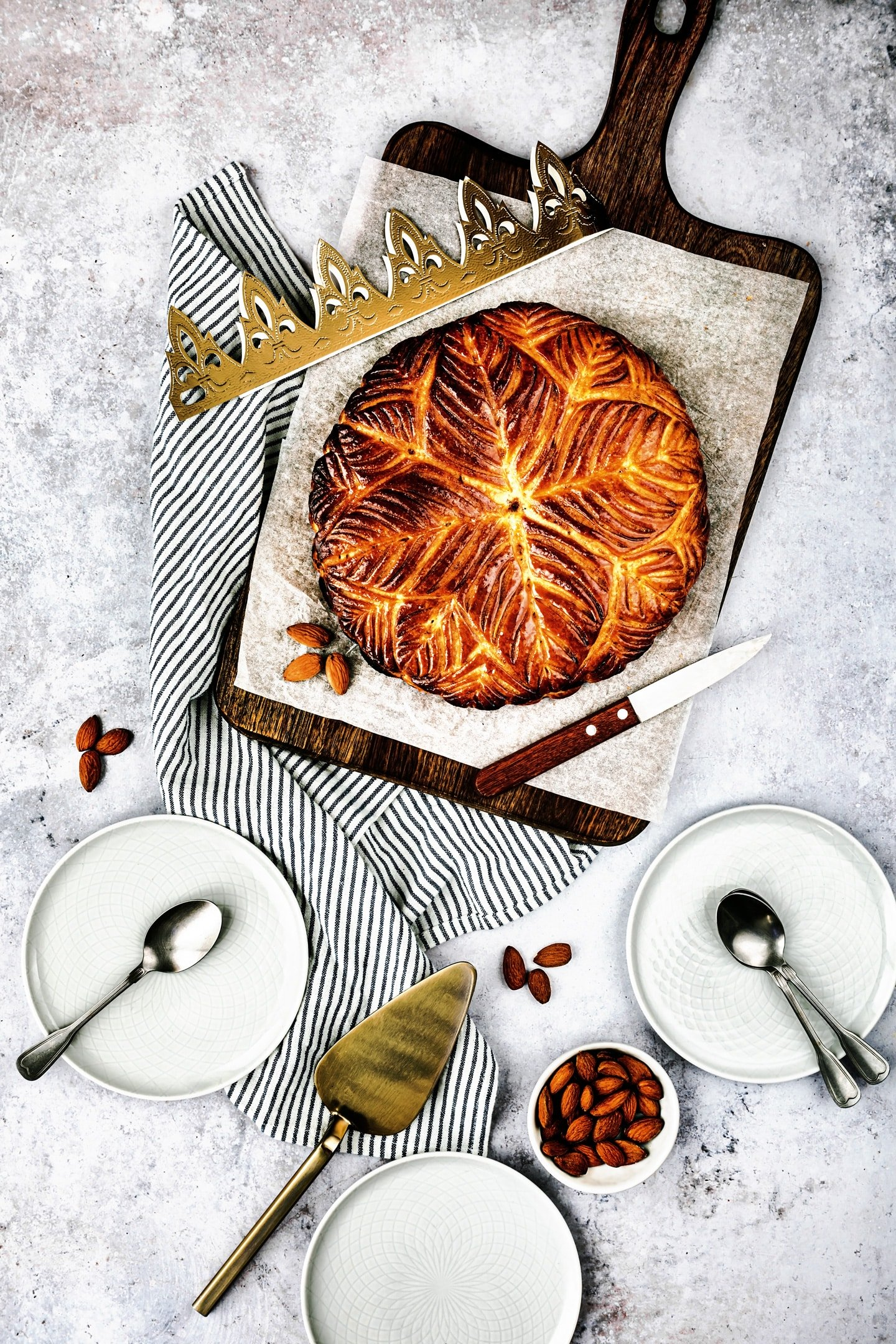 French galette des rois with frangipane