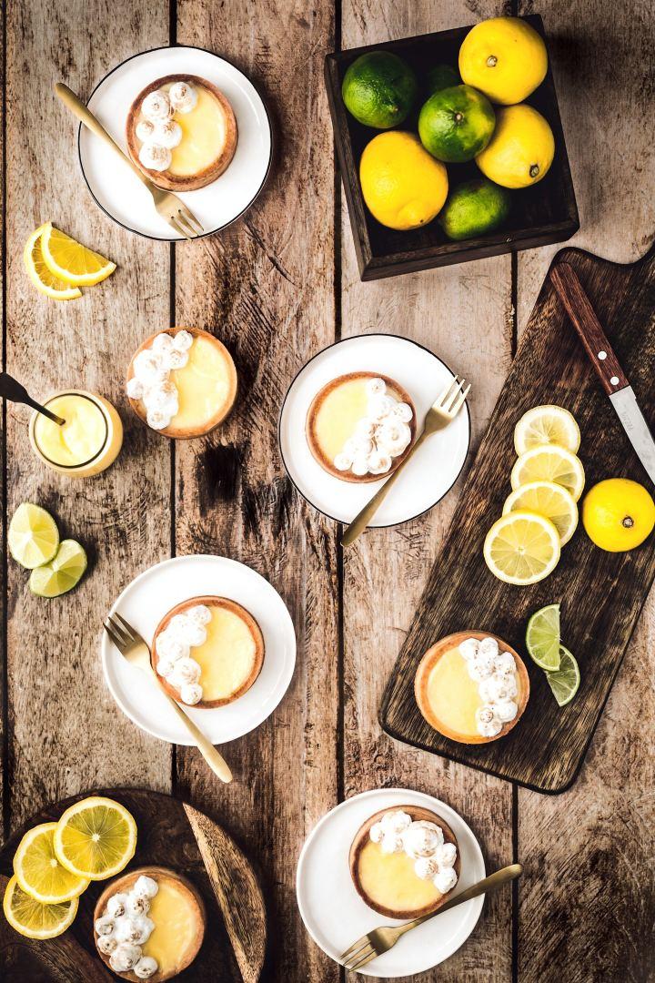 Les tartelettes citron et meringue