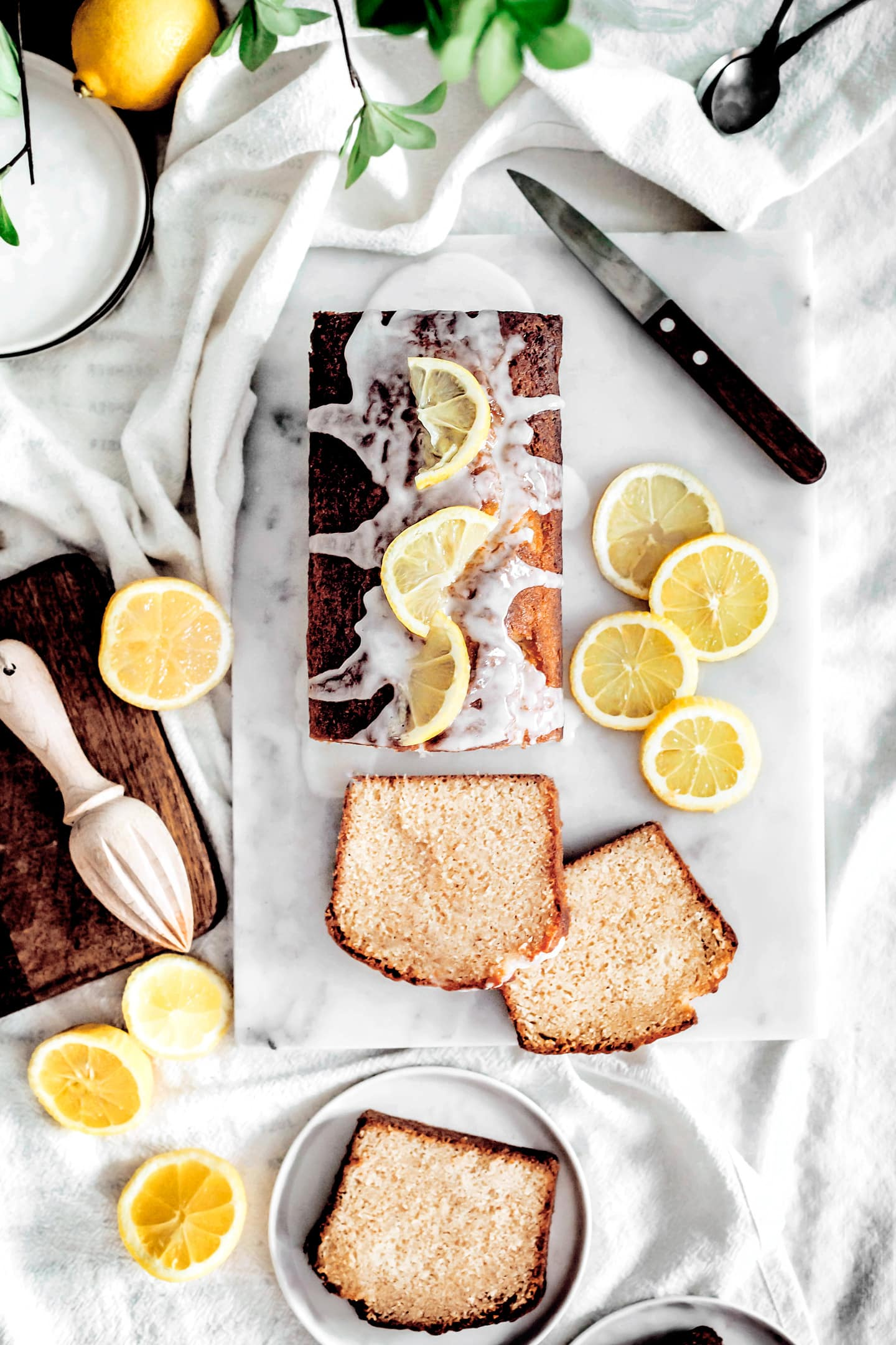 yellow lemon fondant cake