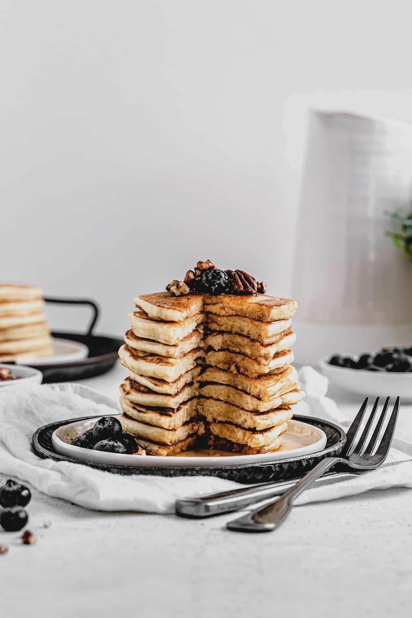 Gourmet buttermilk pancakes