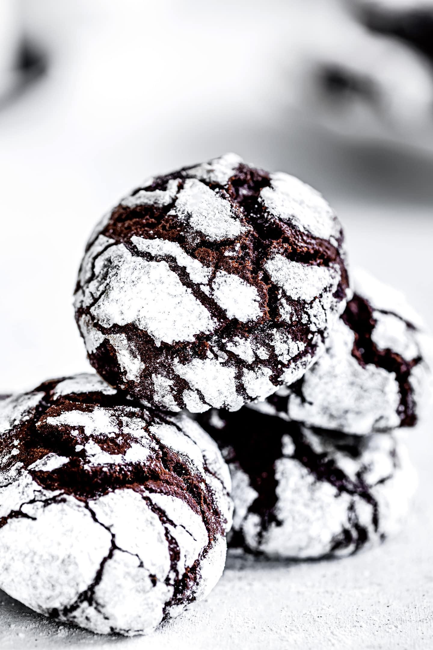 La recette facile des biscuits craquelés au chocolat