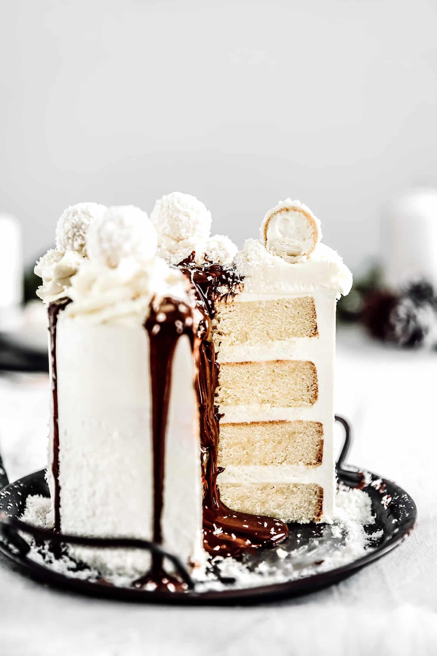 Layer cake chocolat blanc Raffaello