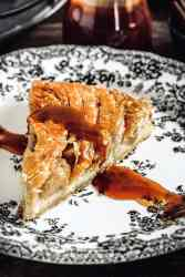 French apple puff pastry galette