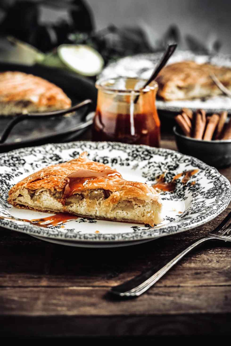 French apple and almond galette