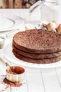 Génoise au chocolat maison
