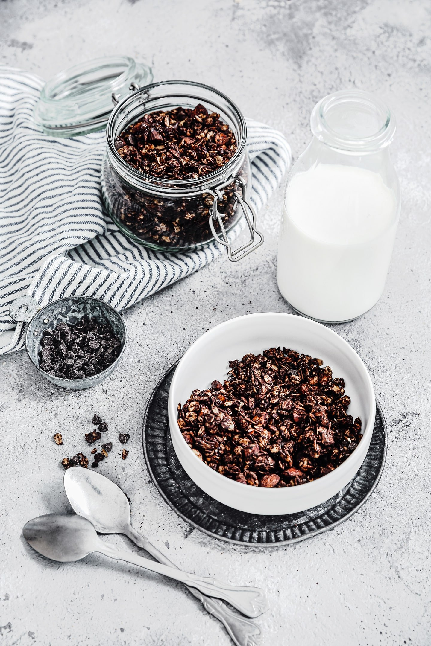 Recette facile et rapide du granola maison chocolat
