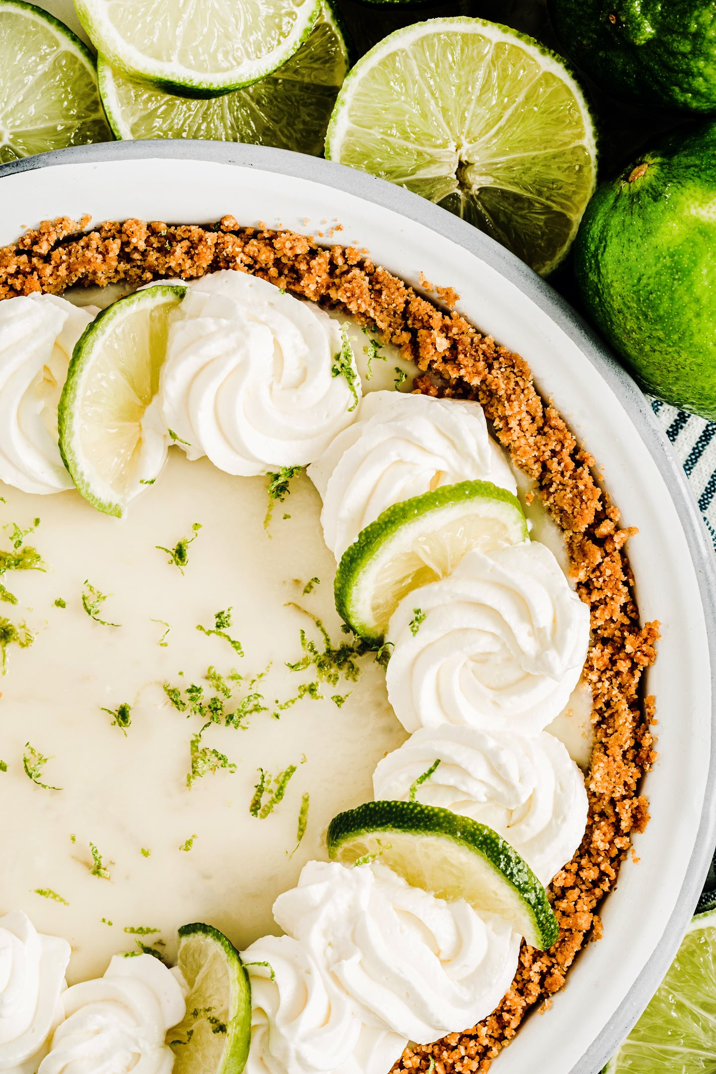 Key lime pie la tarte au citron vert