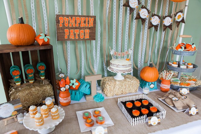Pumpkin Patch In Use Baby Shower Theme