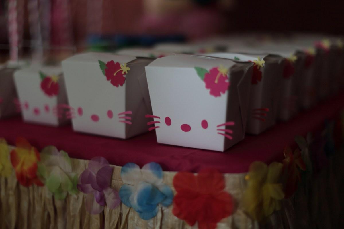 Hawaiian Kitty Birthday Sweetly Tartly Crafty