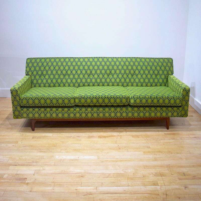 vintage mid century modern sofa w new