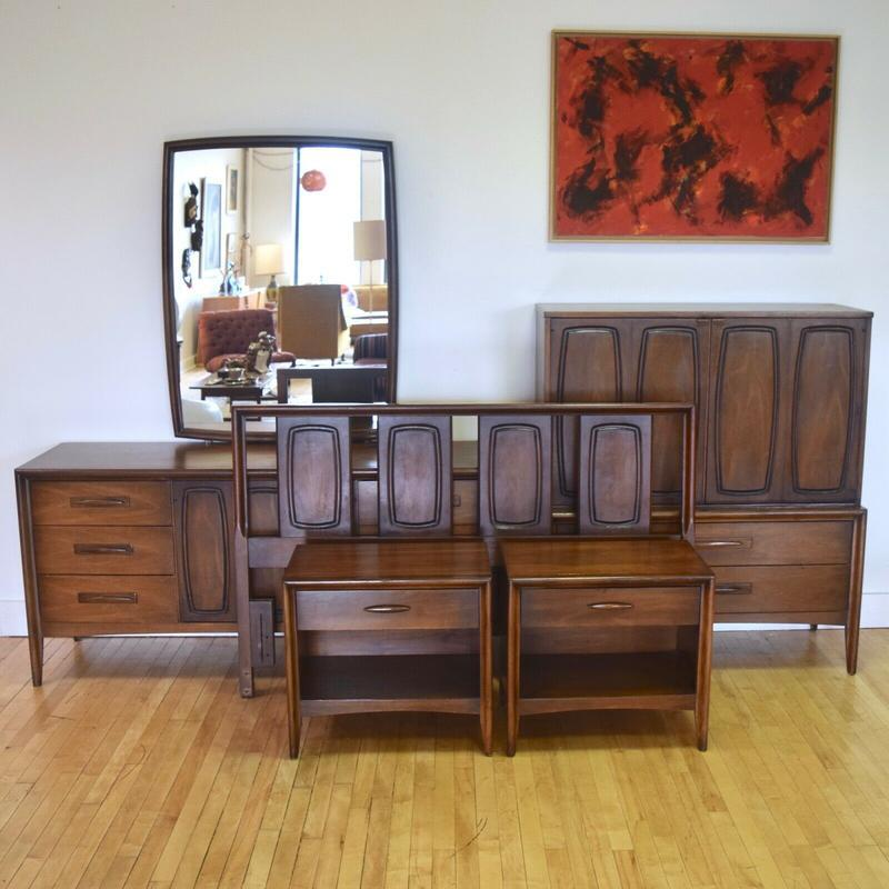 Broyhill Emphasis Queen Bedroom Set Mid Century Bedroom Sets Dressers Sweet Modern Akron Oh