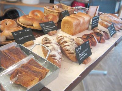 イベントで販売するナカガワ小麦店のパン