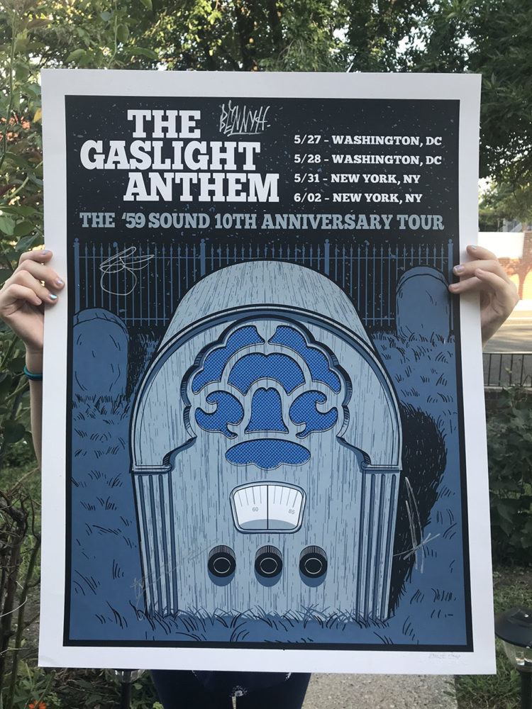 Gaslight Anthem Tour Posters. Signed on Springsteen holy ground.
