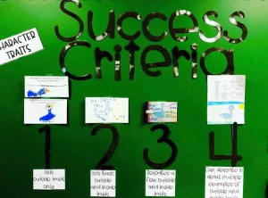 using success criteria with primary students