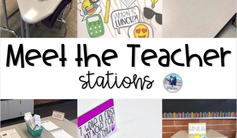 Meet The Teacher Fun