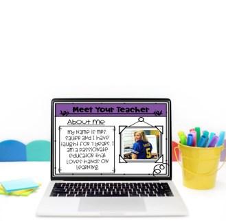 digital meet the teacher presentation