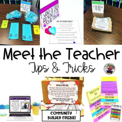 Meet the Teacher Tips and Tricks Blog Post