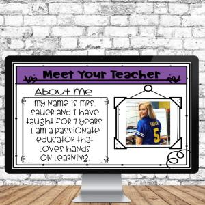 editable meet the teacher resource for Google Slides