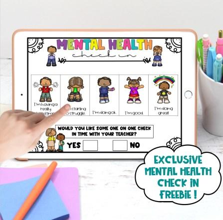 Digital Mental Health Check In FREEBIE