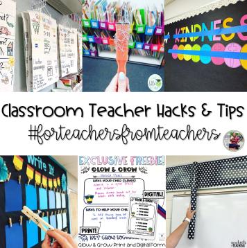 classroom hacks and tips blog post