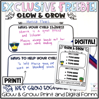 glow and grow conference form freebie