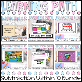 Learning Path Subtraction Within 10
