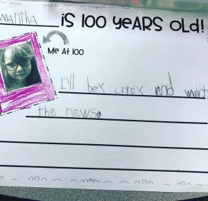 100th Day Writing