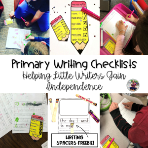 Primary Writing Checklists Blog