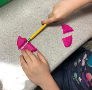 Play Doh fractions