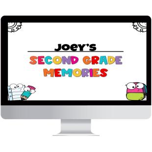 digital end of the year memory flipbook