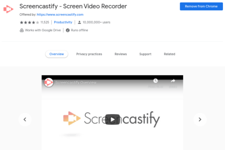 Screencastify Google Extension