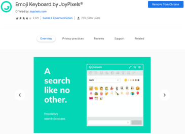Emoji Google Extension