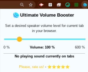 Volume Booster Extension