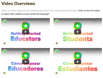 tons of how to flipgrid videos for teachers