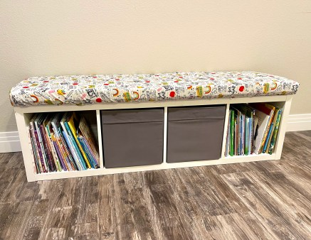 easy to create storage bench seat