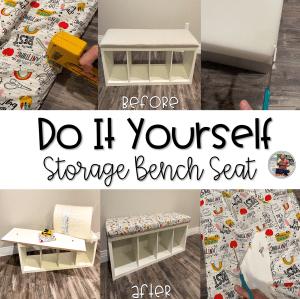 DIY Storage Bench Seat Blog Post