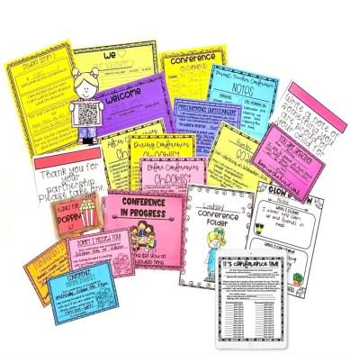 editable parent teacher conferences forms
