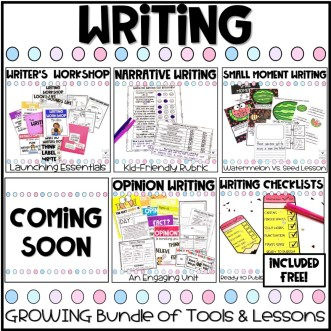 writing resources growing bundle of tools and lessons