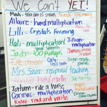 We Can't Yet Anchor Chart