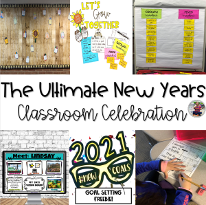 Celebrating New Years in the elementary classroom blog post