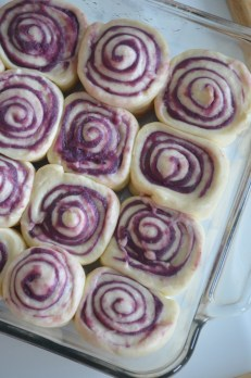 Cut into 12 pieces and arrange in baking pan or tray