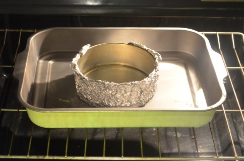 Bake in water bath