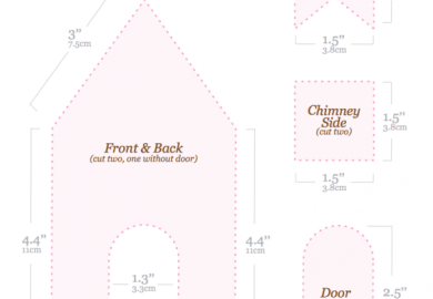 Gingerbread House Patterns Templates