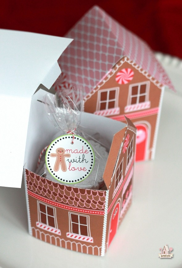 Gingerbread House Treat Box Printable Giveaway Sweetopia