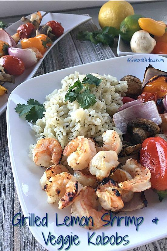 Plate displaying shrimp dinner