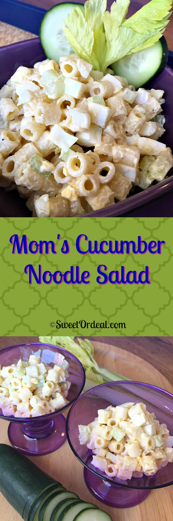 Mom's Cucumber Noodle Salad