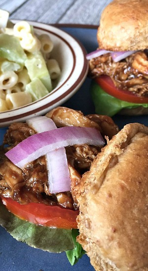 Easy BBQ Chicken Sliders
