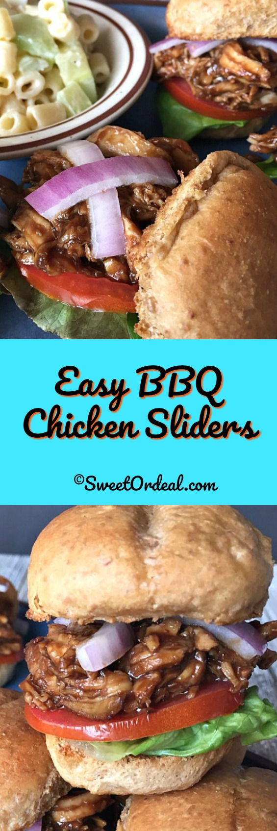 Easy BBQ Chicken Sliders