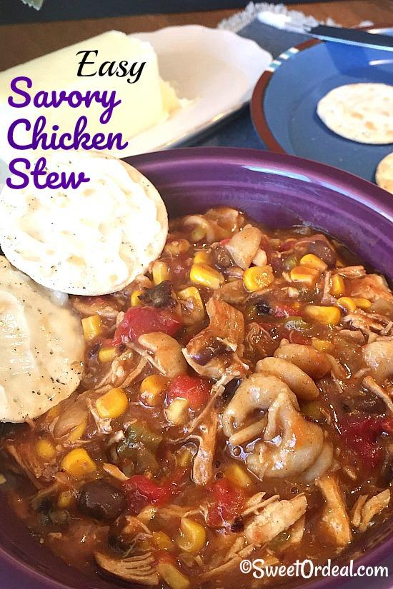 Easy Savory Chicken Stew