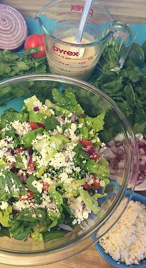 Lime Queso Salad